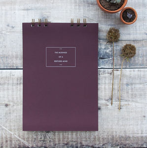 Personalised Message Soft Cover Notebook - gifts for her