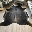 Cowhide Rug Glossy Shiny Chestnut Pale Edges