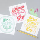 'Gerraway You Can't Be 50!' Yorkshire Card