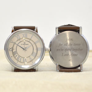 Personalised Mens Watch Ellipse Design - watches
