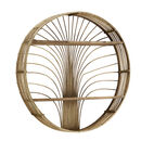 Large Round Rattan Shelf