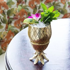 Gold Pineapple Cocktail Tumbler 12oz - tableware