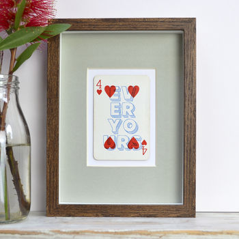Forever Yours Vintage Playing Card Print