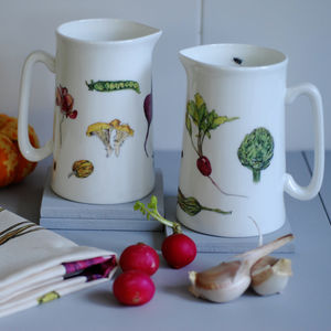 Vegetables Bone China Pint Jug