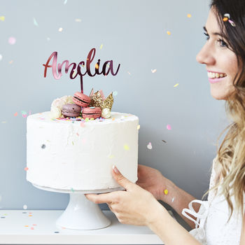 Enchanted Personalised Cake Topper