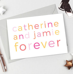 Personalised 'Forever' Card - save the date cards