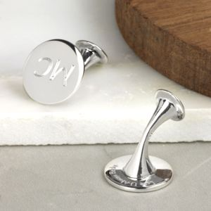 Secret Message Silver Cufflinks - groom's accessories