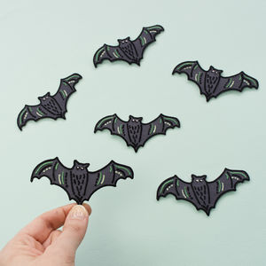 Bat Embroidered Patch - pins & brooches