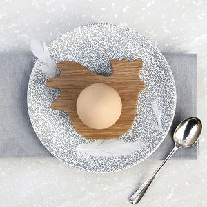 Oak Hen Wooden Oak Egg Cup / Napkin Ring - tableware