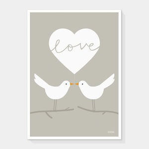 Love Doves Print - posters & prints