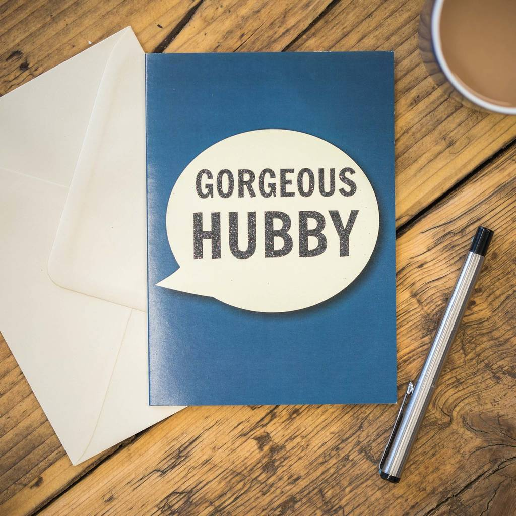 'Gorgeous Hubby' Card