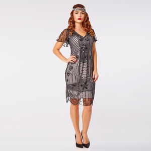 Daisy Gatsby Inspired Hand Embellished Flapper Dress - flapper dresses