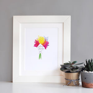 Illustrated Flowers Print - animals & wildlife