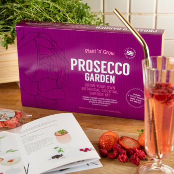Personalised Prosecco Garden Cocktail Kit