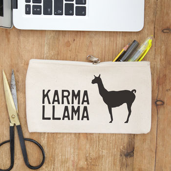 Personalised Llama Pencil Case