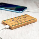 Personalised Pattern Bamboo Power Bank