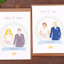 Wedding Day Personalised Mr And Mrs Card