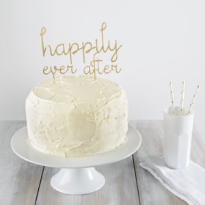 Happily Ever After Cake Topper - table decorations