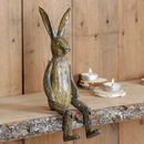 Traditional Jointed Decorative Brown Rabbit