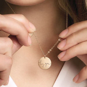 Personalised Phrase Disc Necklace - necklaces & pendants