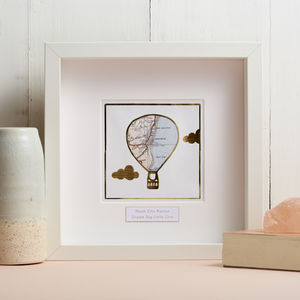 Personalised Gold Foil Balloon Map Picture