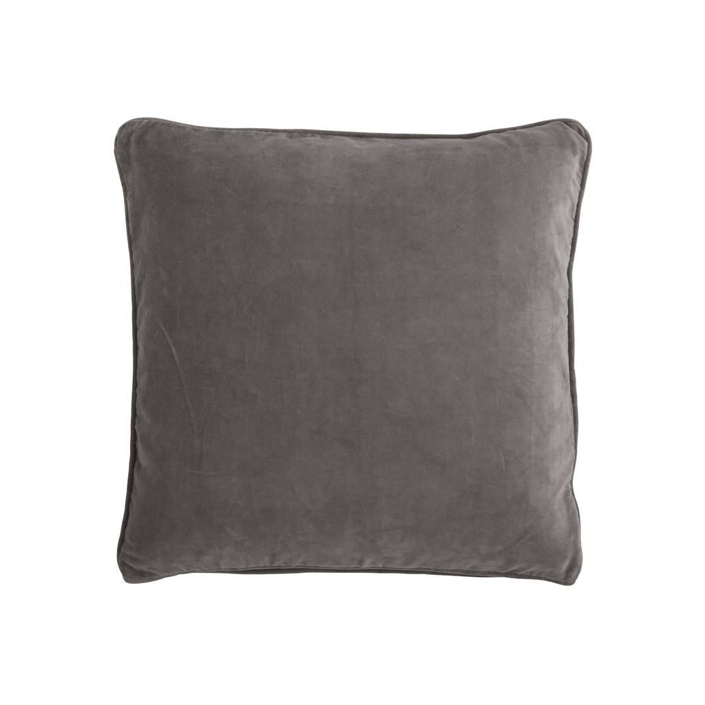 Velvet Chocolate Brown Square Cushion By Posh Totty