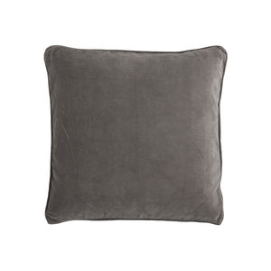 Grey Velvet Square Cushion - cushions