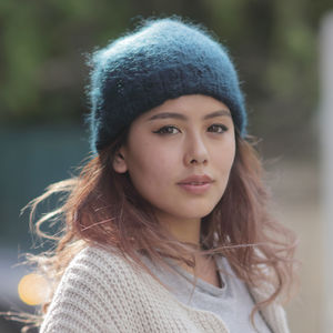 Fairtrade Dip Dye Soft Ethical Mohair Beanie Hat - hats