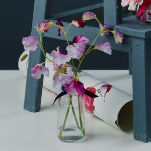 Scented Sweet Pea Arrangement In Milk Bottle Vase