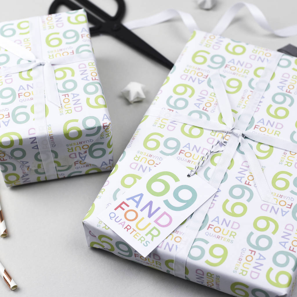 70th Birthday Wrapping Paper Set