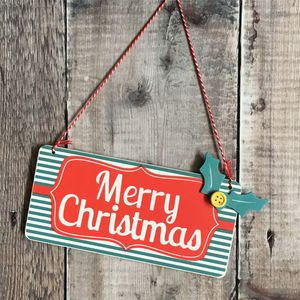 Vintage Style Merry Christmas Sign - decorative accessories