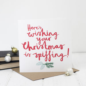 Funny Brush Script Christmas Card