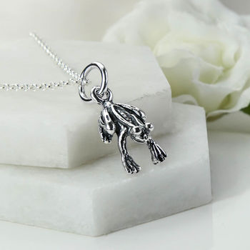 Sterling Silver Frog Necklace