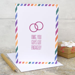 Male Same Sex Engagement Card - summer sale