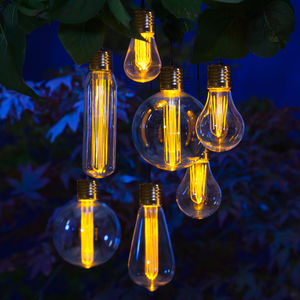 Outdoor Solar Edison Bulb Light Garland - lights & lanterns