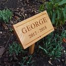 Classic Engraved Oak Memorial Plaque