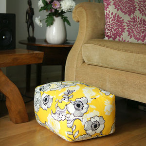 Small Rectangle Handmade Footstool Pouffe - footstools & pouffes