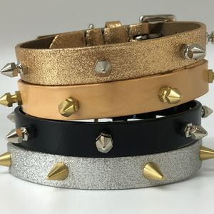 Spike Leather Dog Collar
