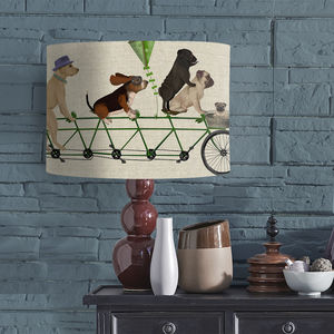 Dog Tandem Lampshade - dining room