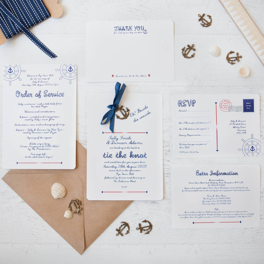 nautical diy wedding invitation pack by wedding in a With wedding invitations pack of 30