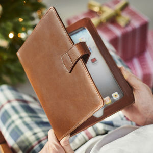 Leather iPad Cover With Stand - laptop bags & cases