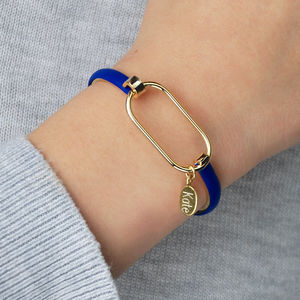 Amelie Gold And Leather Bangle
