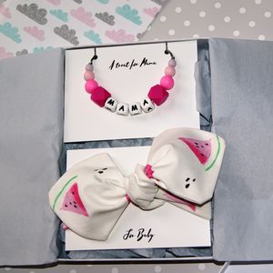 Watermelon Mum And Baby Teething Gift Set - new baby gifts