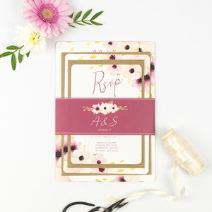 'Floral Chic' Wedding Stationery Sample Pack - save the date cards