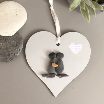 Personalised Engagement Hanging Heart Keepsake