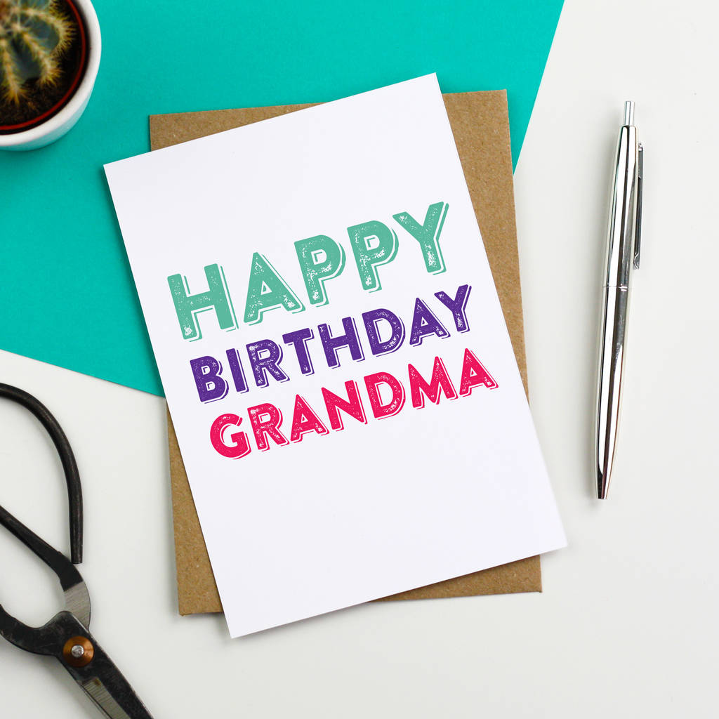 Happy Birthday Grandma Greetings Card