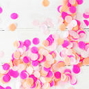 Pink confetti for balloons