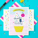 Personalised Birthday Card Ice Cream Greeting Card