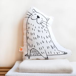 'Lolo The Cat' Decorative Cushion - bedroom