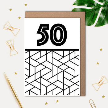 50 Printed Birthday Card